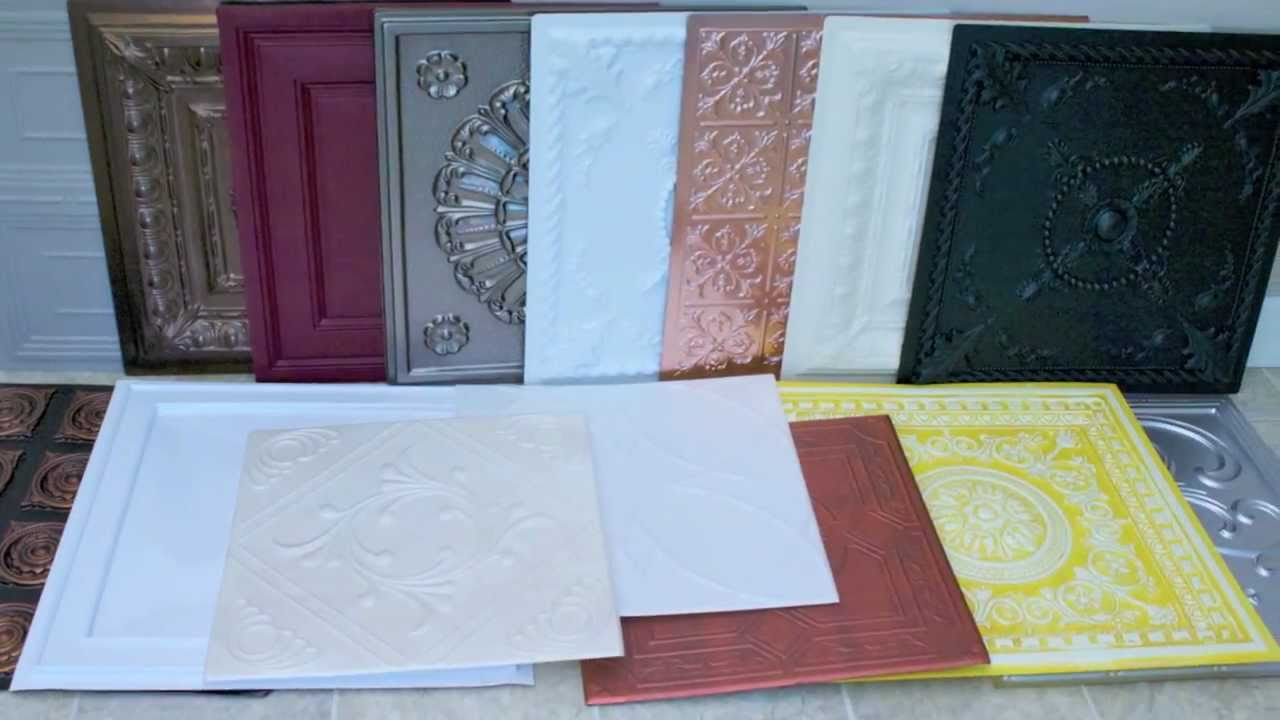 Decorative Ceiling Tiles: What to Know Before You Buy! - YouTube
