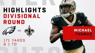 Michael Thomas' Monster Game w/ 12 REC 171 Yards TD!