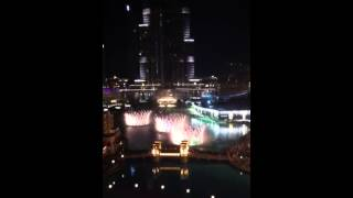 Dubai fountains 2014
