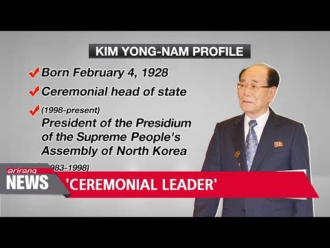 Who is Kim Yong-nam and why was he chosen to attend the Winter Olympics?