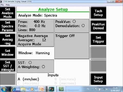 Collect Data Using Bump Test (Equipment Running) With The AMS 2140 Tutorial