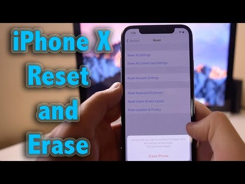 Hard Reset   How to reset and erase iPhone X Recovery Mode