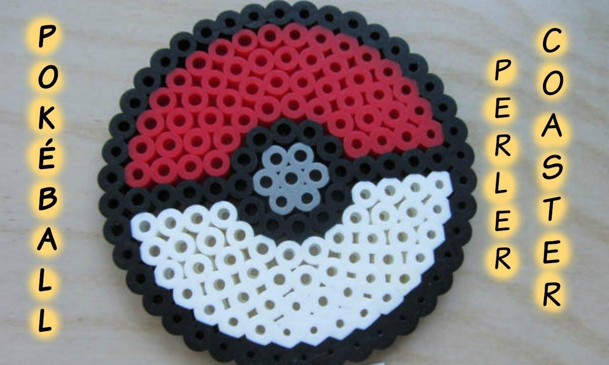 Pokémon Pokéball Perler Bead Coaster
