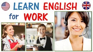 Learn English for Work Part 1 | FAST & EASY | Hotel, restaurant, cashier, maid, helper, bar, cafe
