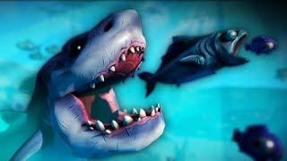 Я БОЛЬШАЯ ХИЩНАЯ РЫБА веселое видео   в необычной игре про симулятор маленькой рыбки от ФГТВ