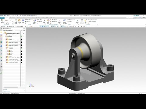 Siemens PLM NX - Topdown Assembly Modeling of Belt Roller Support