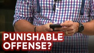 New bill would ban texting while walking