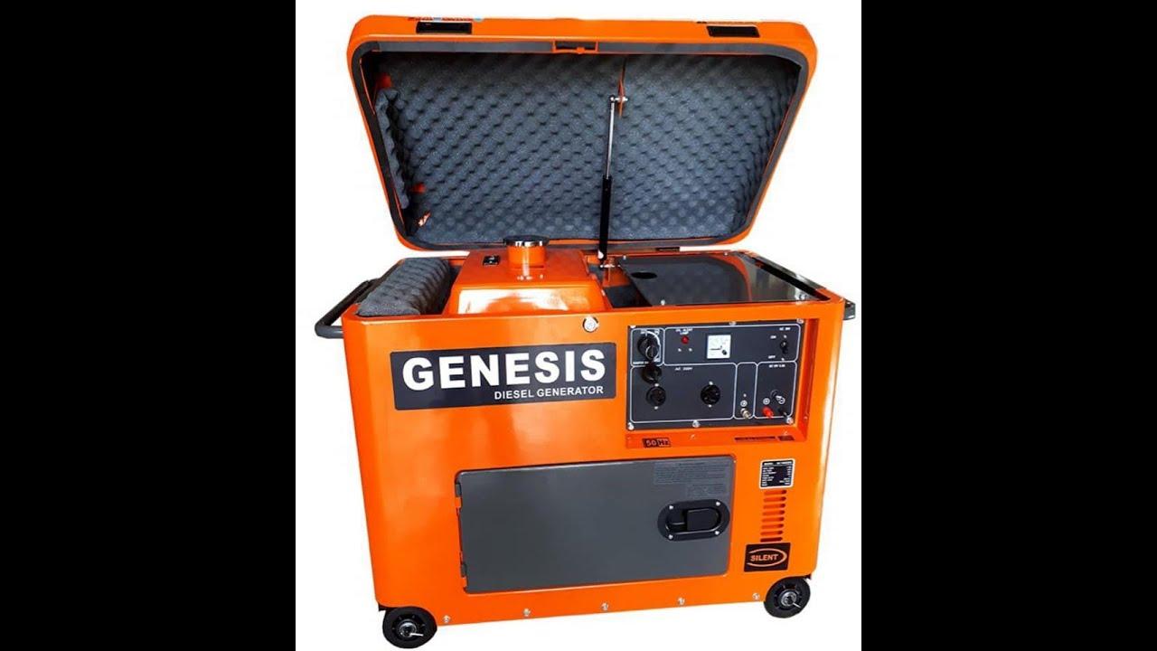 Máy phát điện chạy dầu 6kw,đề nổ,cách âm Hiệu Genesis GD 7800 giá rẻ nhất thị trường