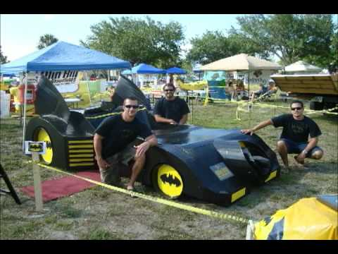 Batmobile Cardboard Boat Youtube