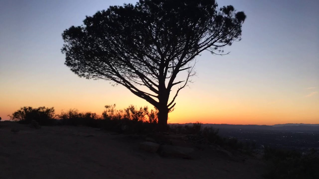 Time Lapse Sunset Hike To The Tree Of Wisdom Cahuenga Peak And Hollywood Sign