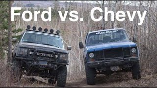 FORD VS CHEVY OFF-ROADING | Ford F-250, Chevy K10