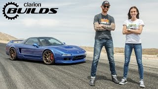Chris Forsberg Drives Clarion Builds Acura NSX Hard Around Horse Thief Mile