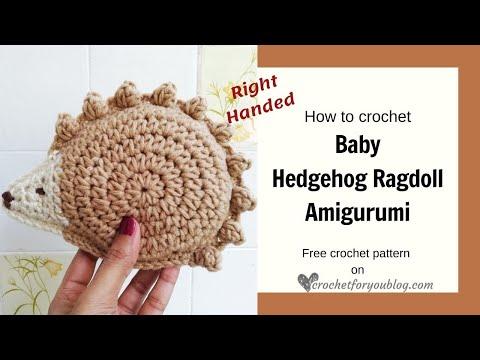 Crocheted rag doll amigurumi pattern - Amigurumi Today | 360x480