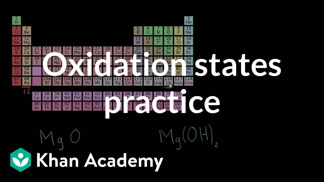 Practice determining oxidation states (video) | Khan Academy