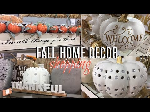 FALL HOME DECOR!! SHOP WITH ME AT HOMEGOODS FALL 2017