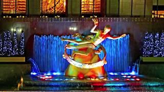 02.03.2012 New York VII. USA.  Rockefeller Center.  Video.