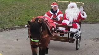 La Ferme pédagogique de Briska • Arrivée du Père Noël en calèche !