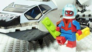 Lego Spiderman Brick Building SpaceCraft Animation For Kids
