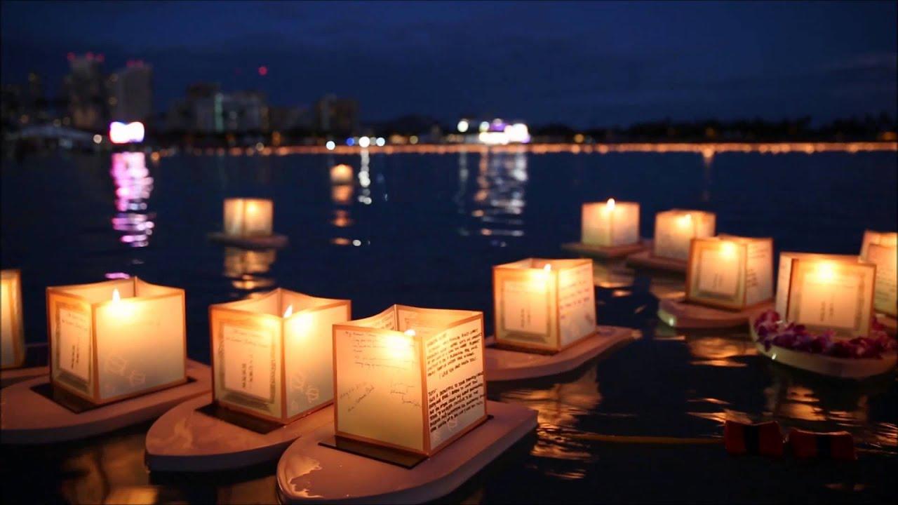 floating lantern ceremony honolulu hawaii 2014 youtube