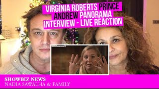 VIRGINIA ROBERTS Prince Andrew PANORAMA INTERVIEW - Live Reaction