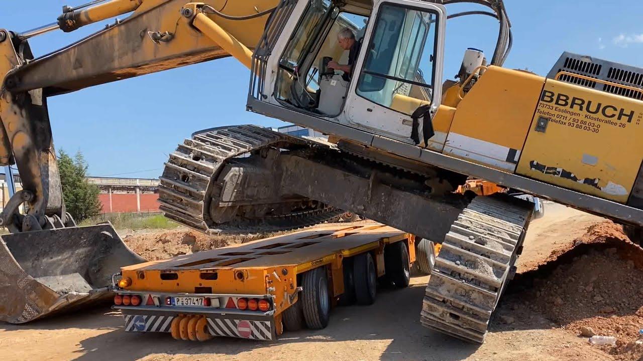 Transporting Three Liebherr 964 Excavators In One Day - Fasoulas Heavy Transports