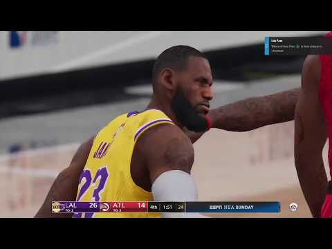 NBA LIVE 19 Lakers vs Hawks Gameplay PS4 Pro