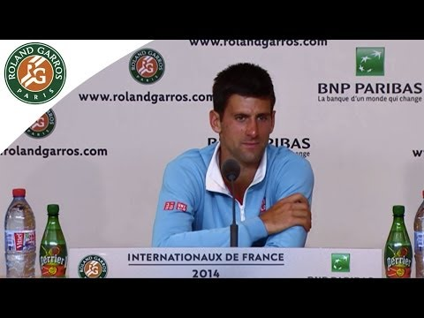 Press conference N.Djokovic 2014 French Open final