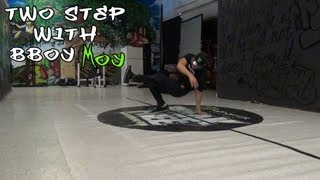 How to Breakdance | Two step ft. Bboy Moy (HAVIKORO, Monster Bboys) | Footwork | CoolAznTutorials