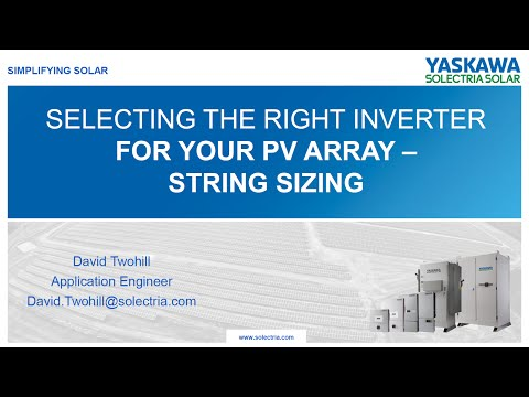 Solar Array String Sizing - Voltage Calculations and Recommendations