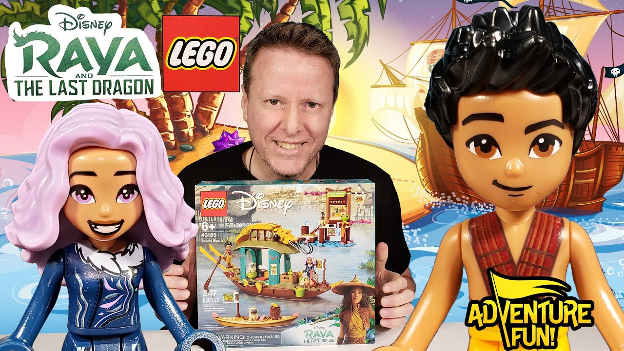 Raya And The Last Dragon Boun's Boat and Sisu Lego Toys Action Figures AdventureFun Toy review!