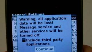 Blackberry Curve 8330 Erase Cell Phone Info - Delete Data - Master Clear Hard Reset