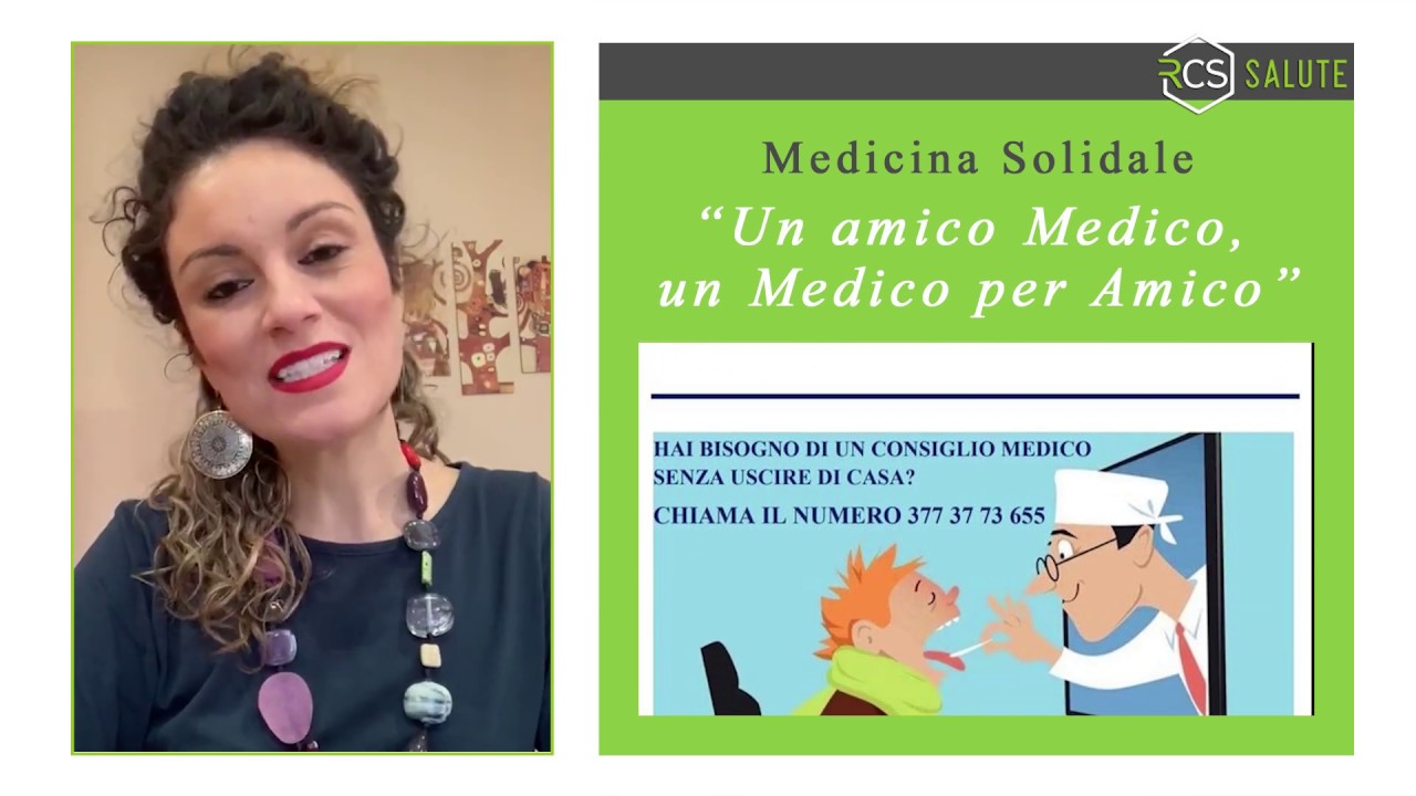 "Parte il Progetto Medicina Solidale:""un Amico Medico, un Medico per Amico"""