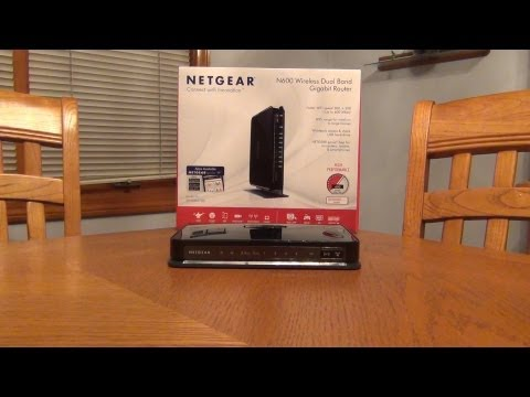 Netgear N600 Wireless Dual Band Gigabit Router WNDR3700v4...Unboxing and Setup