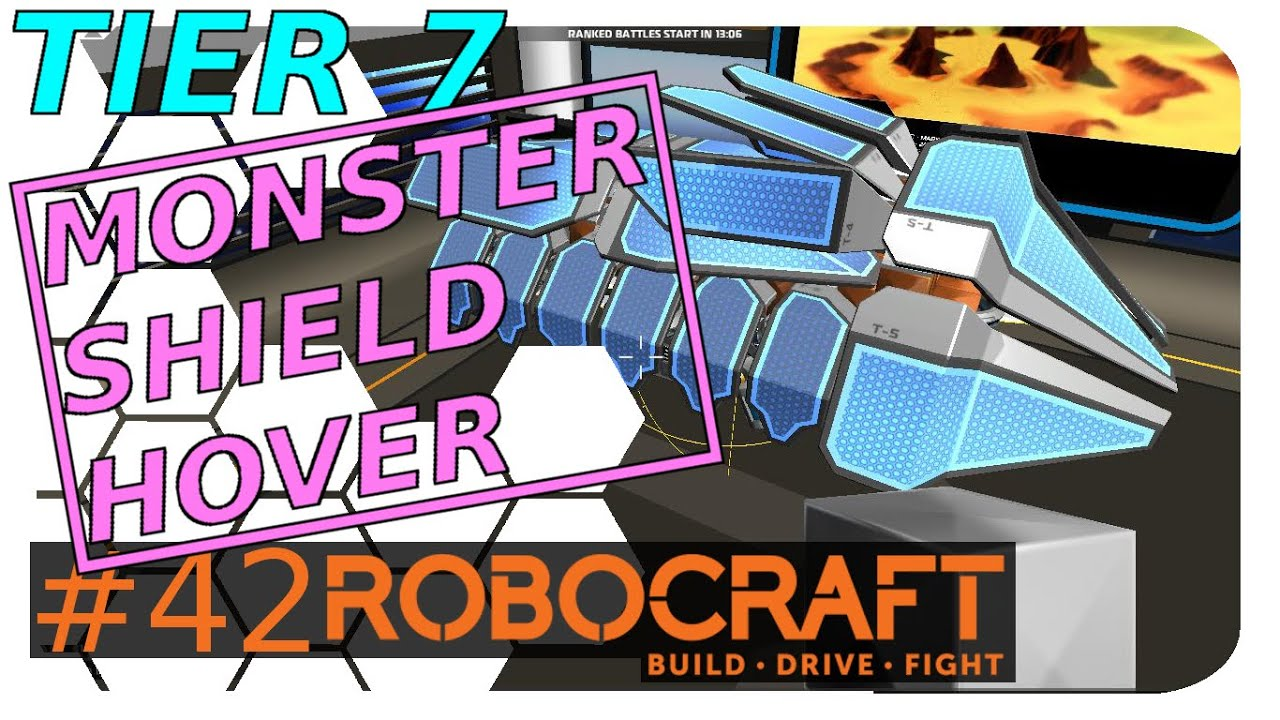 Robocraft Tier 7 - Monster Shield Hover - YouTube