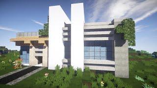 Красивый модерн дом в майнкрафт Строим Вместе! часть 1- Строительство - Minecraft