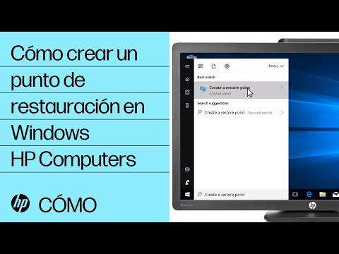 Cómo crear un punto de restauración en Windows | HP Computers | HP
