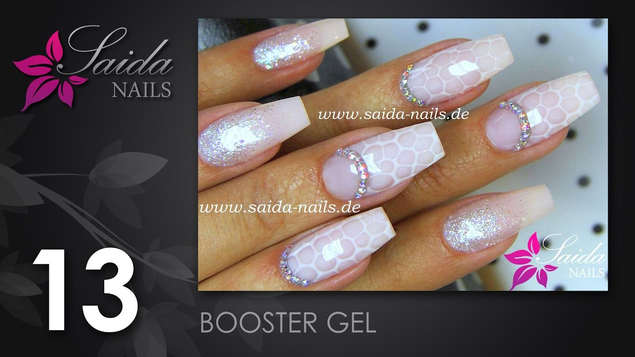 Booster Gel Milky Bubbles Nail Art Nailart Leicht Gemalt Saida Nails Youtube
