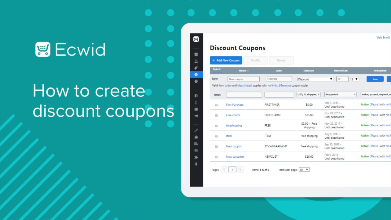 Discount coupons – Ecwid Help Center