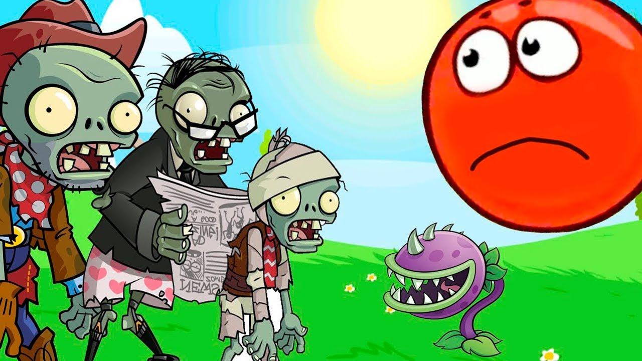 КРАСНЫЙ ШАРИК против ЗОМБИ RED BALL 4 мультик игра для детей ПРО КРАСНЫЙ ШАР видео для малышей