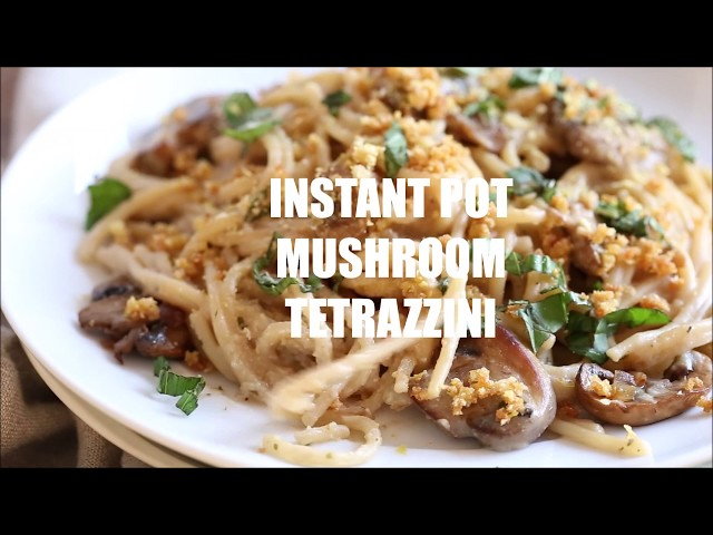 INSTANT POT MUSHROOM TETRAZZINI | Vegan Richa Recipes