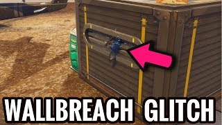 HOW TO WALLBREACH GLITCH in FORTNITE BATTLE ROYALE! NEW FORTNITE WALLBREACH GLITCH!