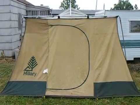 Vintage Hillary Canvas Tent model 308 77186 water test