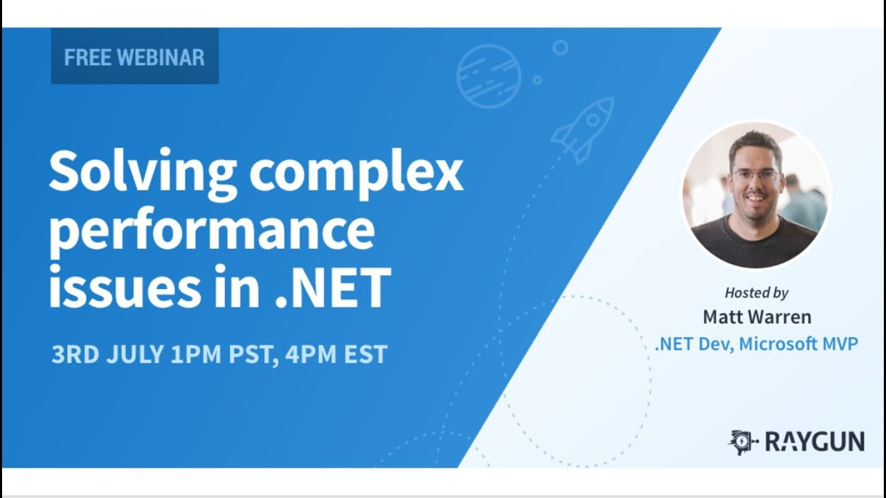 How to solve complex performance issues in .NET and .NET Core [full webinar]