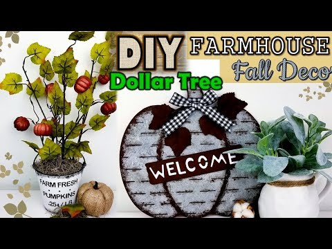 Dollar Tree DIY | Farmhouse Fall Decor Ideas 2019
