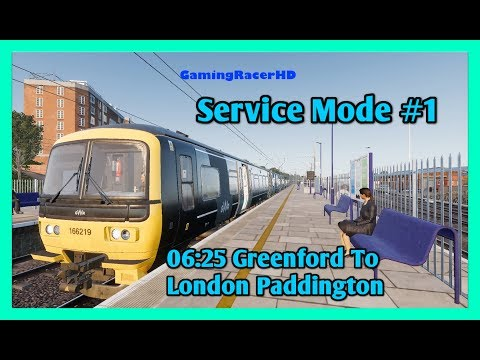 Train Sim World - Service Mode #1 - 06:25 Greenford To London Paddington [1080p 60FPS]