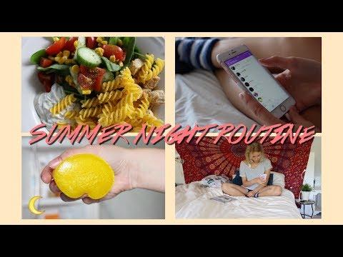 SUMMER NIGHT ROUTINE 2017 ♡ COOKING HEALTHY VEGETARIAN MEAL / REBECCA ELLIE