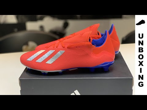 on sale bf2a2 69bd3 adidas X 18.3 FG AG Exhibit - Action Red Silver Metallic Bold Blue