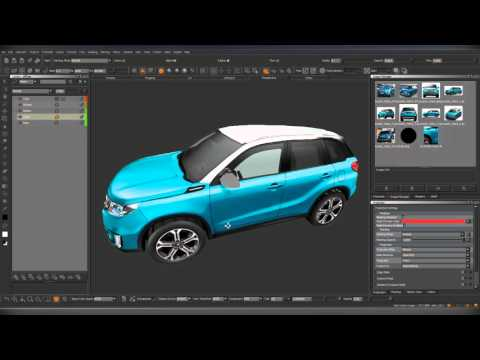LowPoly Car. Texturing in Mari by Alex_HD