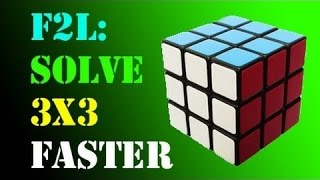 how to solve a rubik s cube 3x3 fridrich method part 1 f2l
