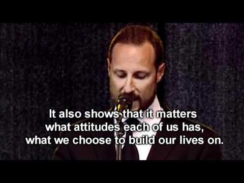 Crown Prince Haakon of Norway speech at City Hall (with English subtitles)